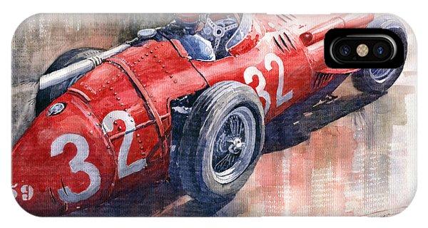 Automotive iPhone Case - Maserati 250f J M Fangio Monaco Gp 1957 by Yuriy Shevchuk