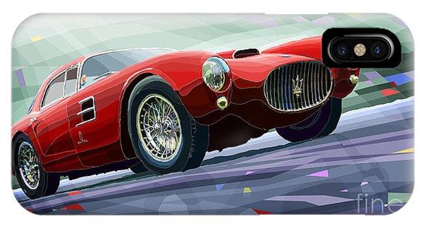 Classic Cars iPhone Case - Maserati A6gcs Berlinetta By Pininfarina 1954 by Yuriy Shevchuk