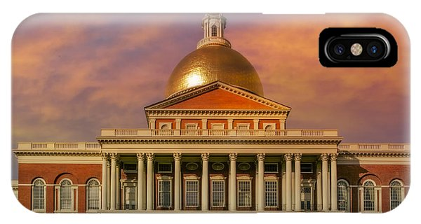 Bean Town iPhone Case - Massachusetts State House by Susan Candelario