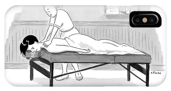 Masseuse Massages A Client IPhone Case