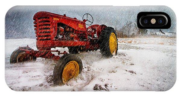 Farm Tool iPhone Case - Massey Harris Mustang by Bob Orsillo
