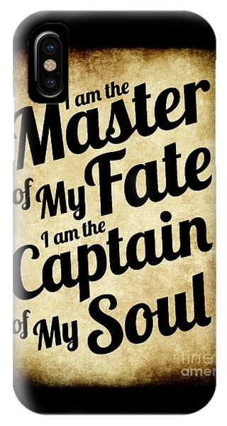Master Of My Fate - Old Parchment Style IPhone Case