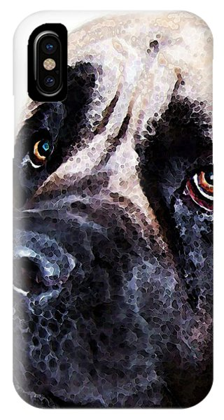 Mastiff iPhone Case - Mastiff Dog Art - Sad Eyes by Sharon Cummings