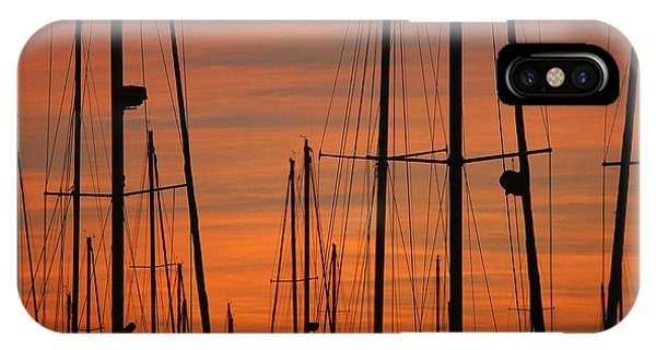 Masts At Sunset IPhone Case