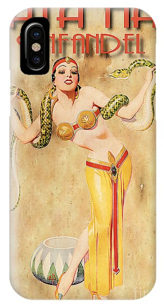 Mata Hari Vintage Wine Ad IPhone Case