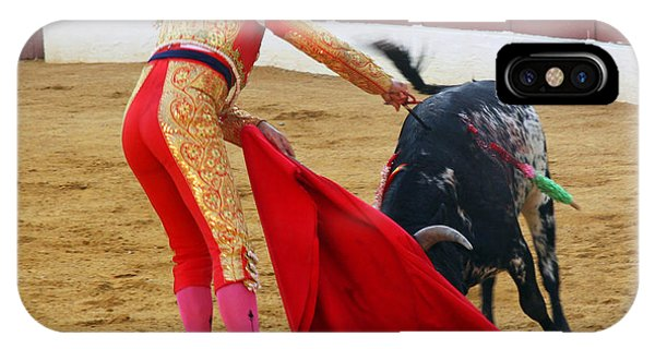 Matador Stabbing Bull Phone Case by Dave Dos Santos