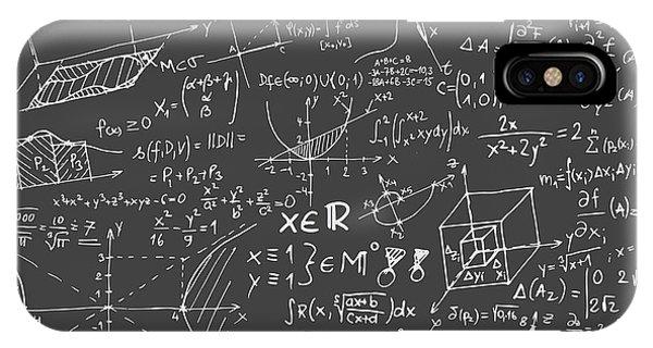 Maths Blackboard IPhone Case