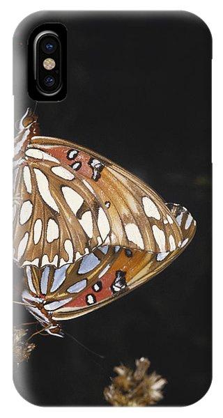 Agraulis Vanillae iPhone Case - Mating Gulf Fritillaries by Gary Retherford