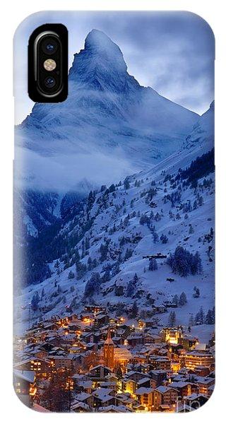 IPhone Case featuring the photograph Matterhorn At Twilight by Brian Jannsen