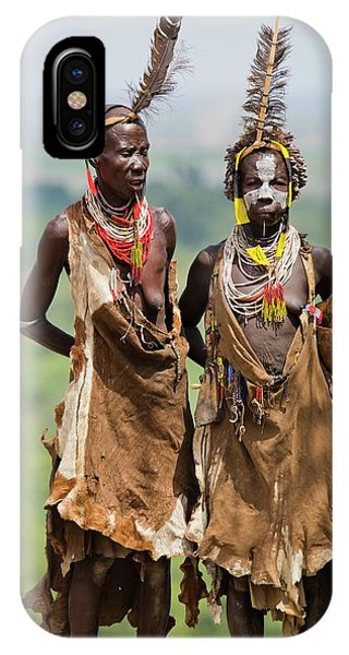 Mature Karo Tribe Women Phone Case by Photostock-israel