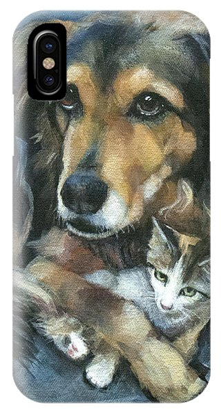 Disc iPhone Case - Maty And Lennox by Mary Medrano
