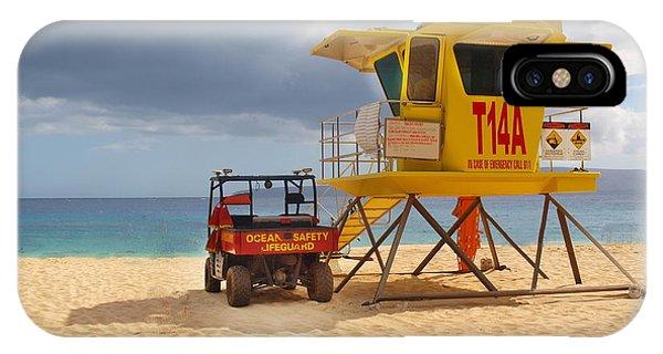 Maui Lifeguard Tower IPhone Case