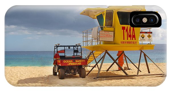 Maui Lifeguard Tower IPhone Case