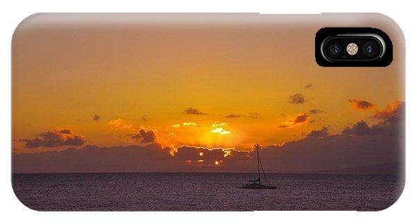 Maui Sailboat Sunset IPhone Case