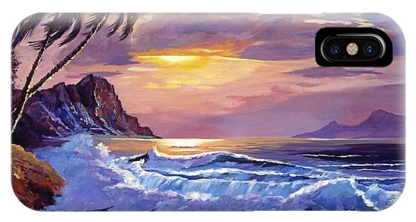 Hawaiian Sunset iPhone Case - Maui Sunset by David Lloyd Glover
