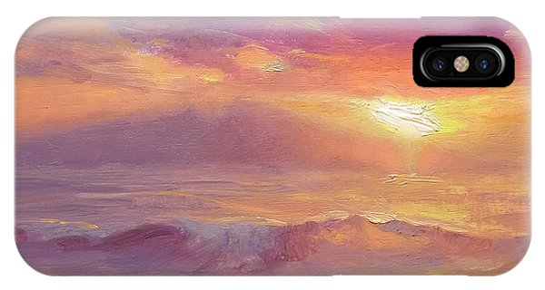 Maui To Molokai Hawaiian Sunset Beach And Ocean Impressionistic Landscape IPhone Case
