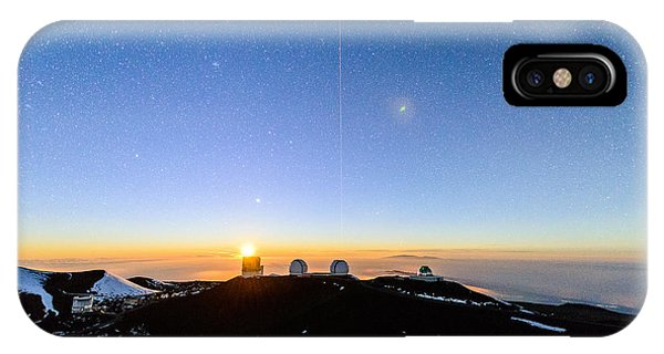 Mauna Kea Moonset 1 IPhone Case