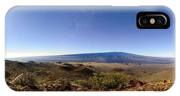 Mauna Loa Moonlight Panorama IPhone Case