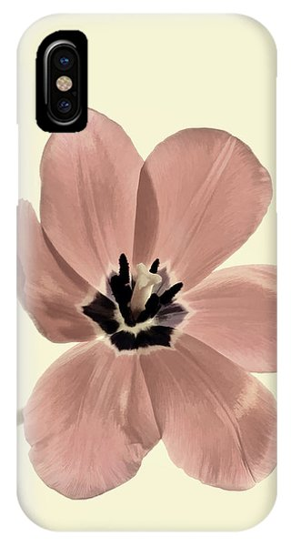 Mauve Tulip Transparency IPhone Case