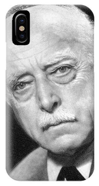 Head And Shoulders iPhone Case - Max Laue by Aip Emilio Segre Visual Archives, E. Scott Barr Collection