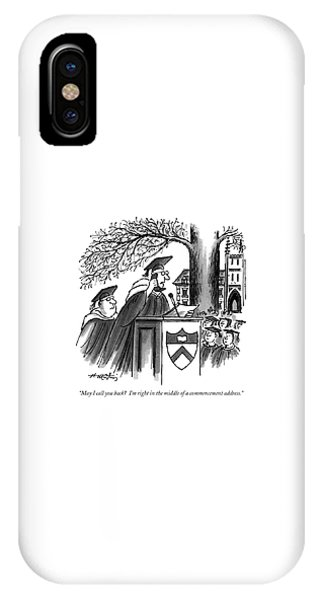 May I Call You Back?  I'm Right In The Middle IPhone Case