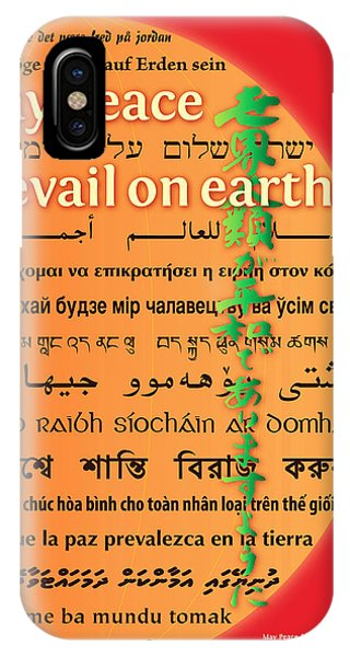 May Peace Prevail On Earth IPhone Case