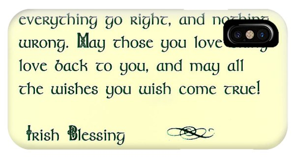 St. Patricks Day iPhone Case - May The Sun Shine - Irish Blessing by Bill Cannon