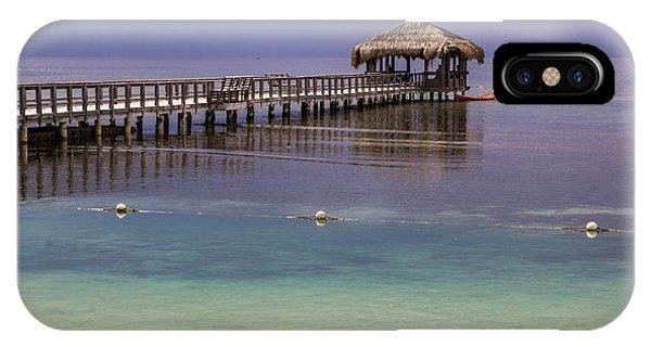 Maya Key Pier At Roatan IPhone Case