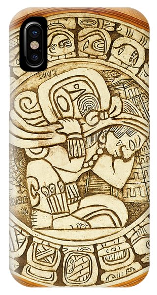 Belize iPhone Case - Mayan Woodcarving, Belize by William Sutton