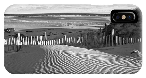 Mayflower Beach Black And White IPhone Case