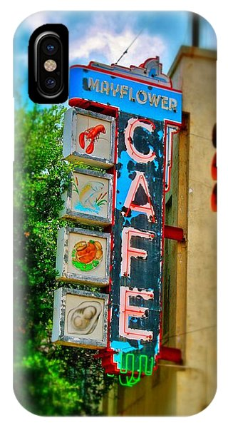 Mayflower Cafe Sign IPhone Case