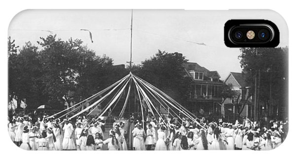 1895 iPhone Case - Maypole Dance by Underwood Archives
