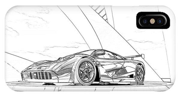 Mclaren F1 Sketch IPhone Case