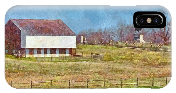 Mcpherson's Barn At Gettysburg National Military Park IPhone Case