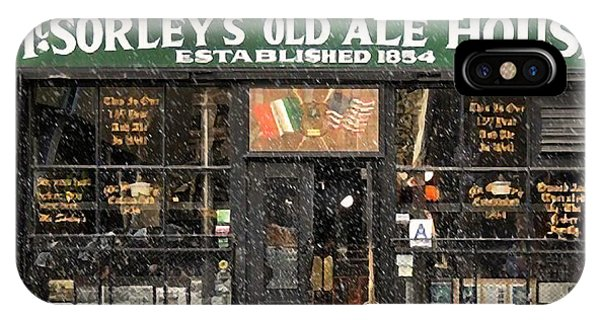 Mcsorley's Old Ale House During A Snow Storm IPhone Case