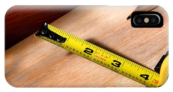 Woodworking iPhone Case - Measure Twice by Olivier Le Queinec