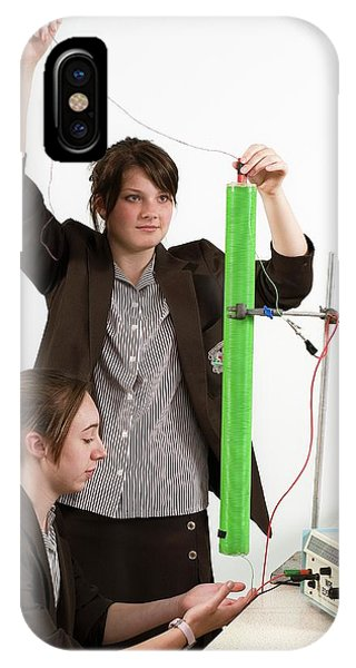 Measuring Electromagnetic Induction Phone Case by Trevor Clifford Photography