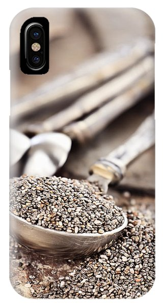 Measuring Spoon Of Chia Seeds IPhone Case