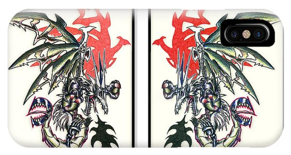Mech Dragons Collide IPhone Case