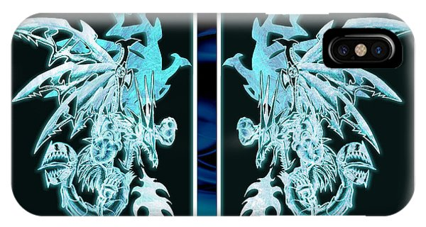 Mech Dragons Diamond Ice Crystals IPhone Case