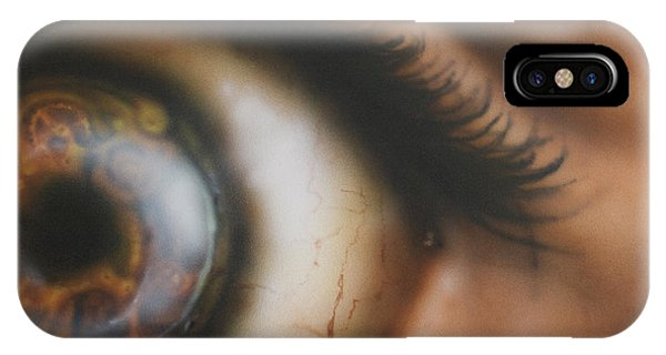 Lid iPhone Case - Mechanical Iris by Troy Wilfong