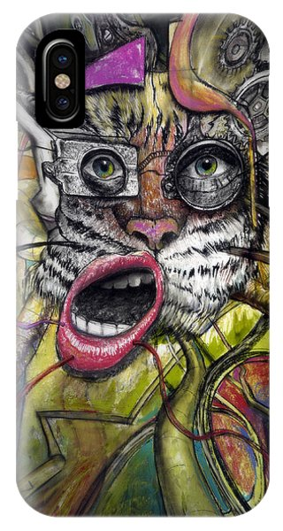 Imagination iPhone Case - Mechanical Tiger Girl by Frank Robert Dixon