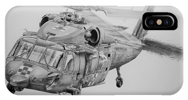 Helicopter iPhone Case - Medevac by James Baldwin Aviation Art