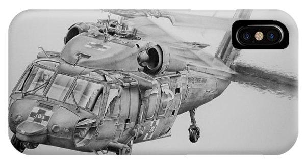 Helicopter iPhone X Case - Medevac by James Baldwin Aviation Art