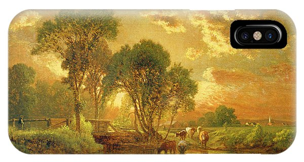 Sunset iPhone Case - Medfield Massachusetts by Inness