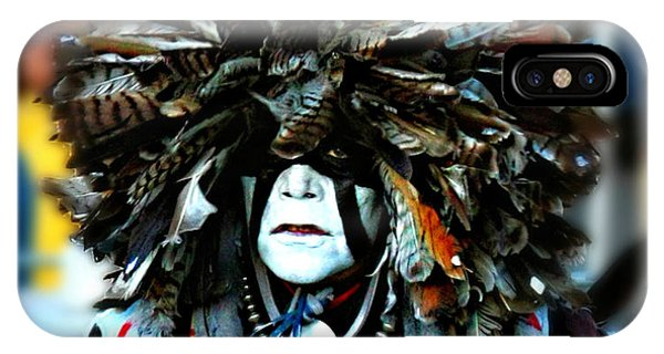 Medicine Man Headdress Phone Case by Scarlett Images Photography