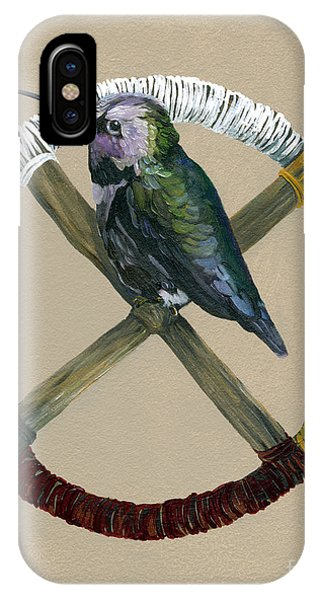 Hummingbirds iPhone Case - Medicine Wheel by J W Baker