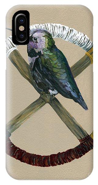 Hummingbird iPhone Case - Medicine Wheel by J W Baker