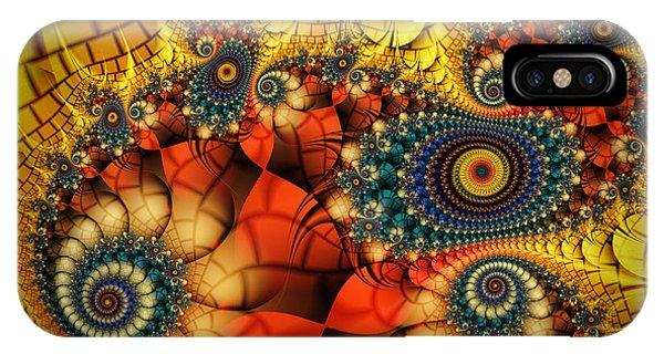 Fractal Landscape iPhone Case - Medieval Ceremonial-fractal Art by Karin Kuhlmann
