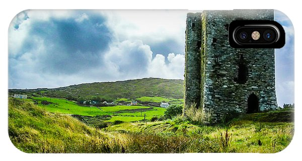 Medieval Dunmanus Castle On Ireland's Mizen Peninsula IPhone Case